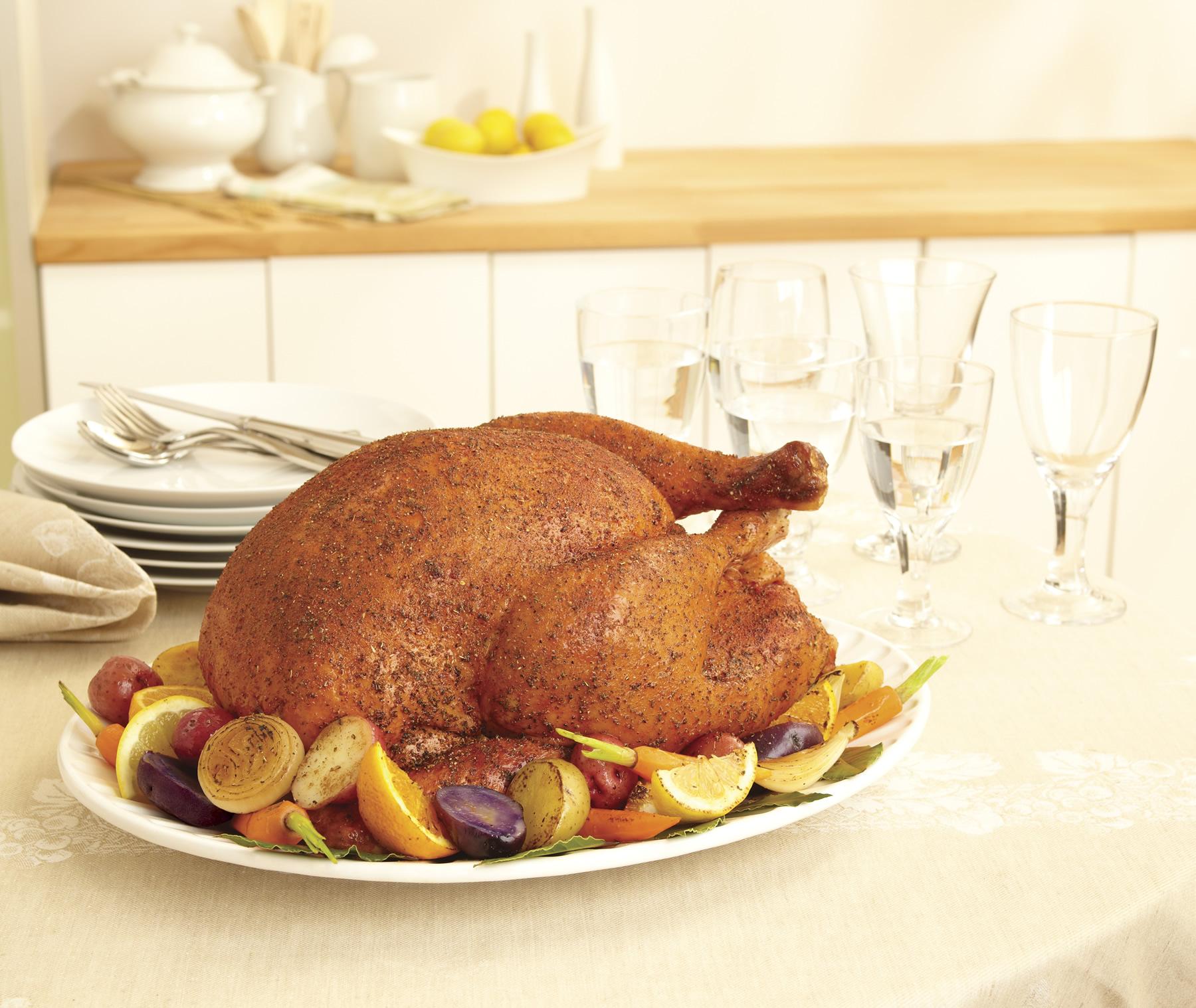 Savory Herb Rub Roasted Turkey