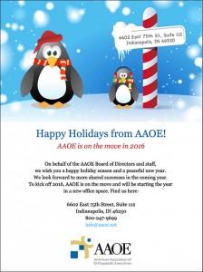 AAOE Holiday E-card