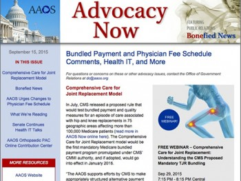 AAOS Advocacy Now