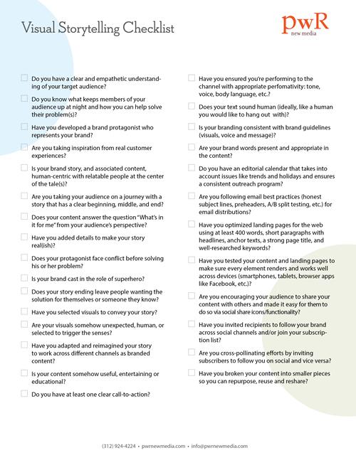 Visual Storytelling Checklist